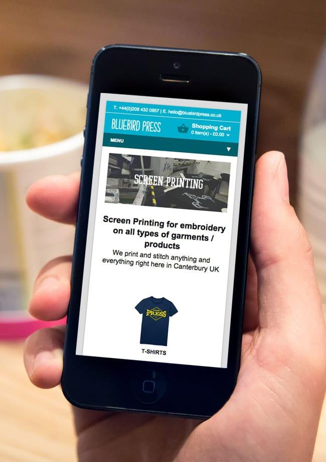 Bluebird Press Mobile Friendly Website