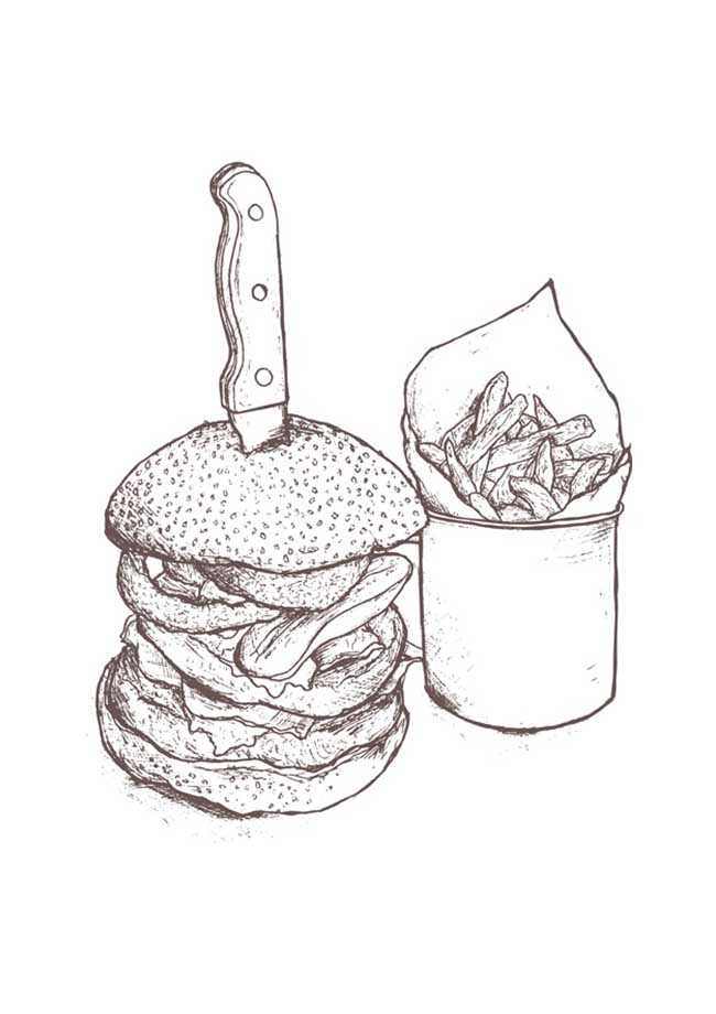 Burger Illustration Revolution