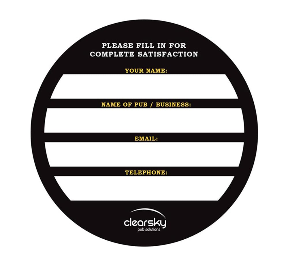 Clear Sky Beer Mat Back