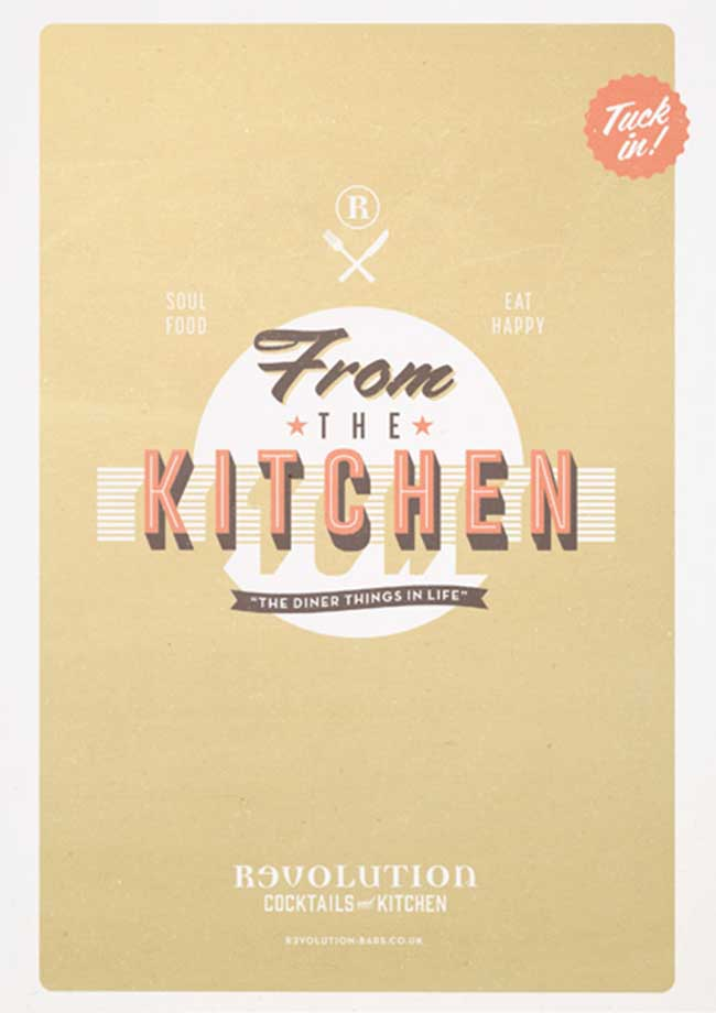 Kitchen Menu Campaign