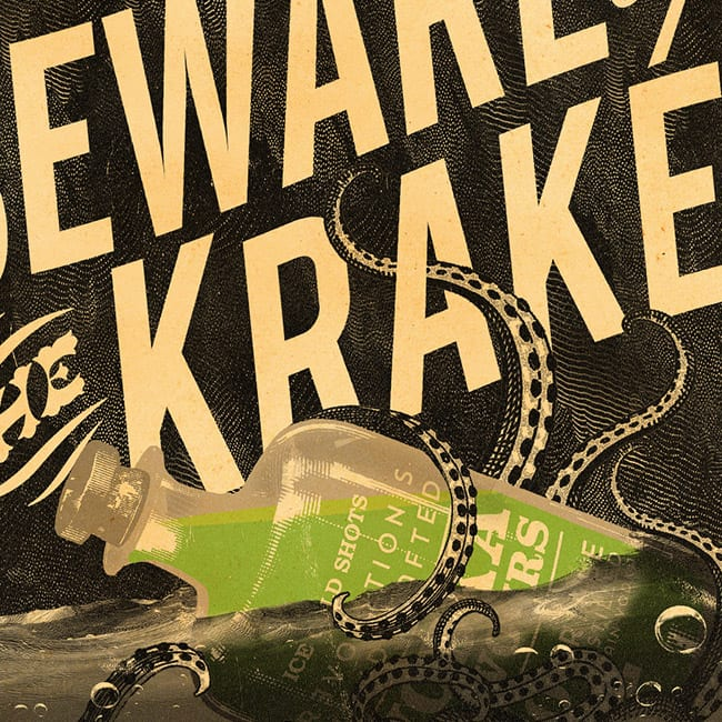 Kraken Halloween Graphic Design Campaign