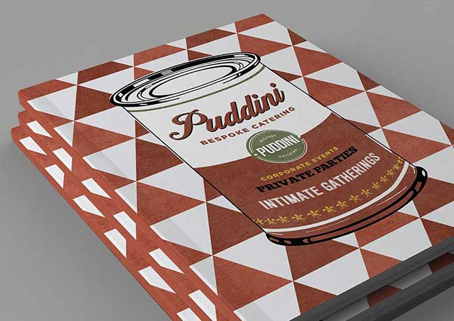 Puddini at the Deli Brochure Design