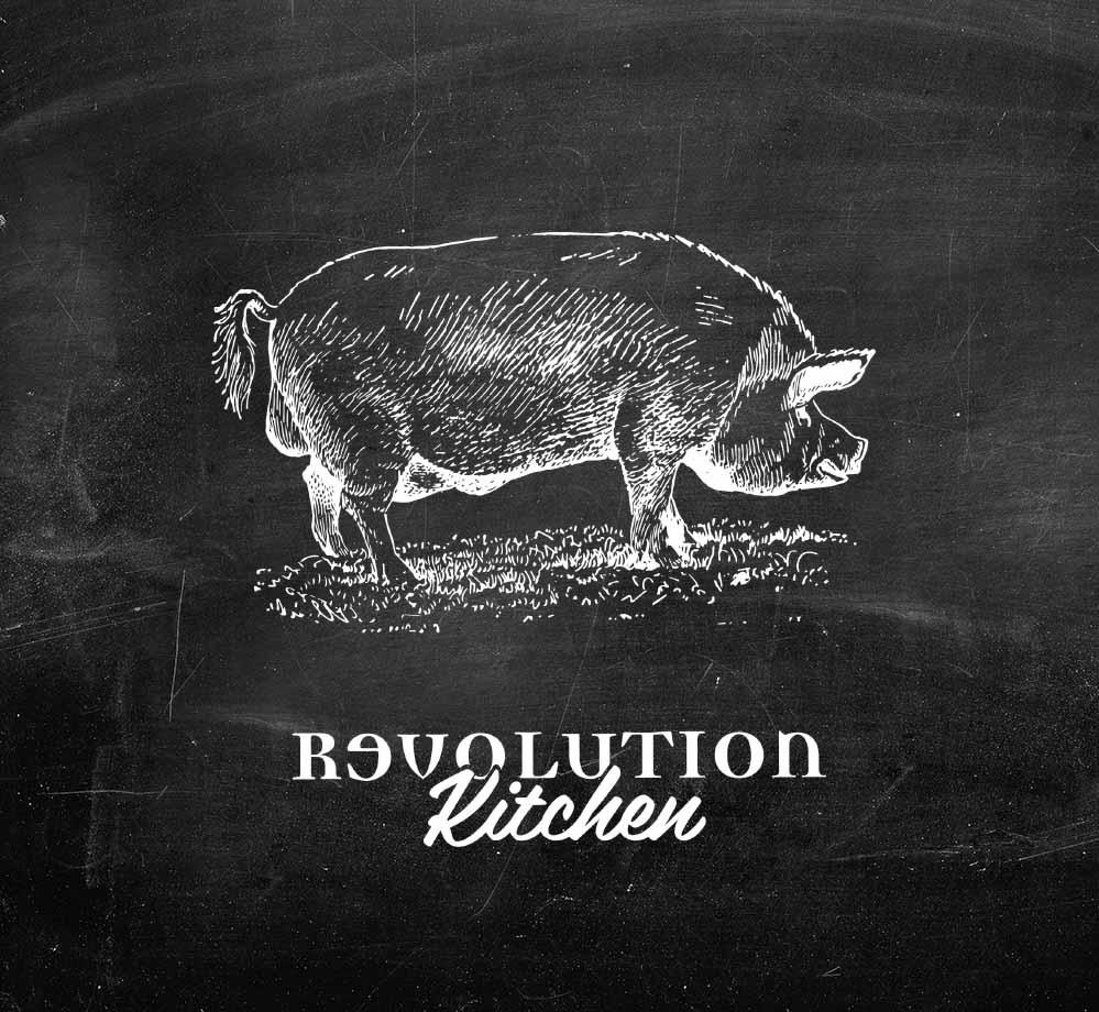 Revolution Blackboard Illustration Design