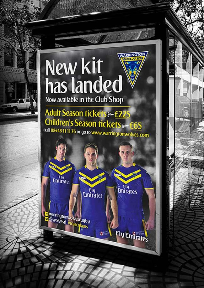 Warrington Wolves Advert