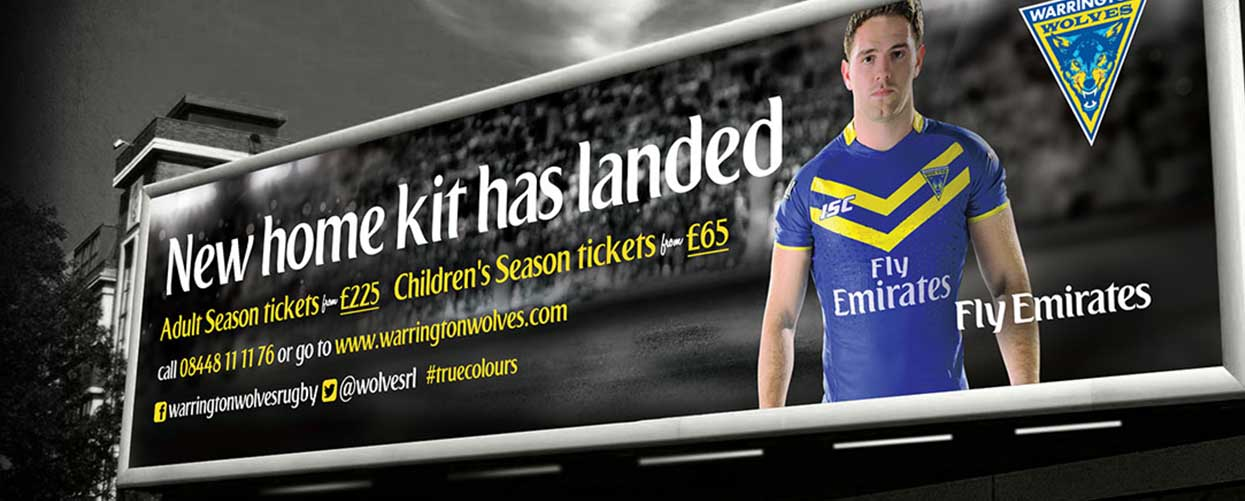 Warrington Wolves Billboard Advert