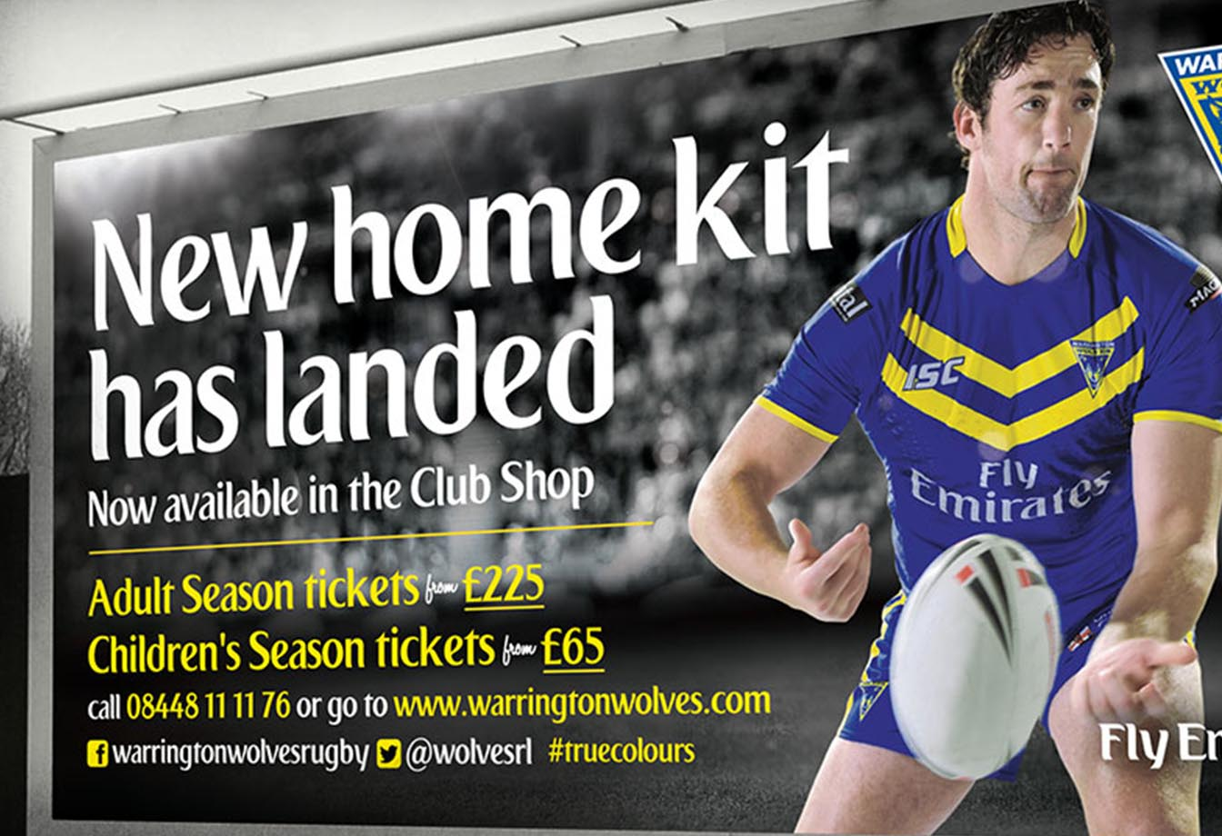 Warrington Wolves Billboard Design