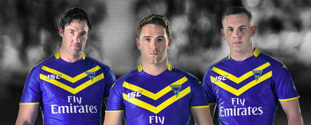 Warrington Wolves Rugby Kit Launch