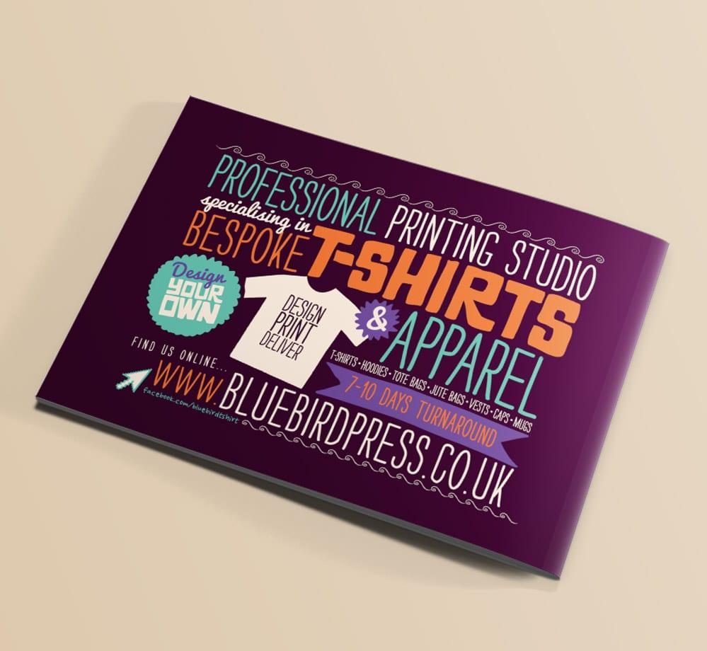 bluebird press advert design