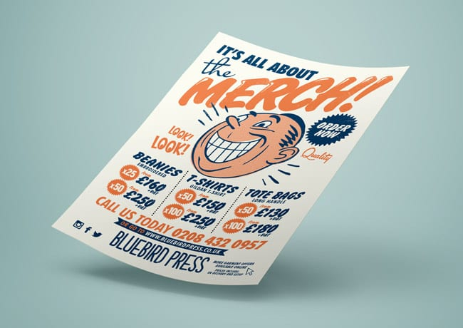bluebird press flyer design