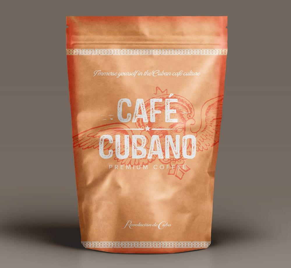 branding cuba coffee brand design