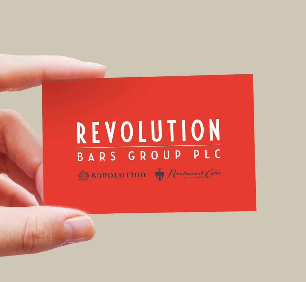 branding rev bars card