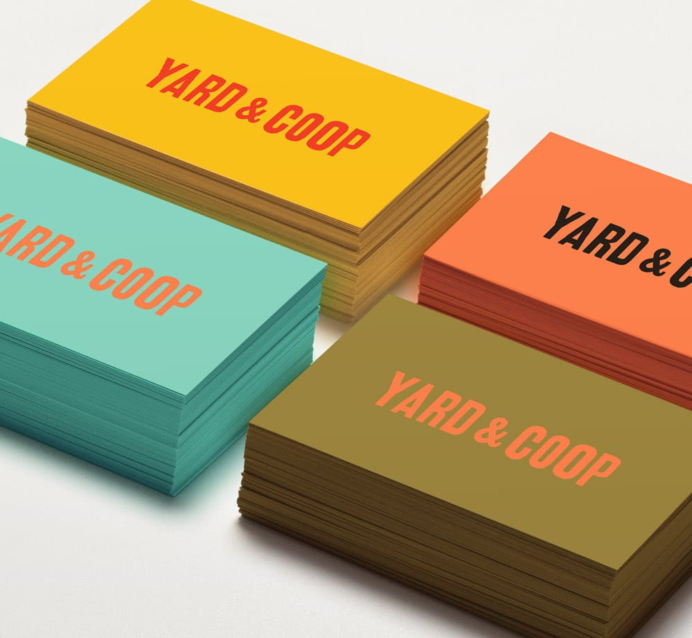 branding yard and coop cards