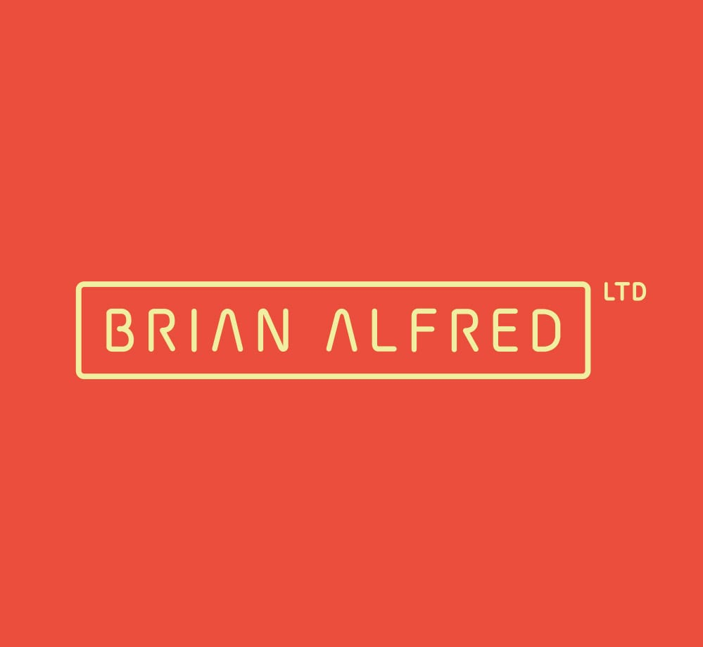 brian alfred logo orange