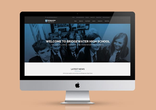 bridgewater school website design