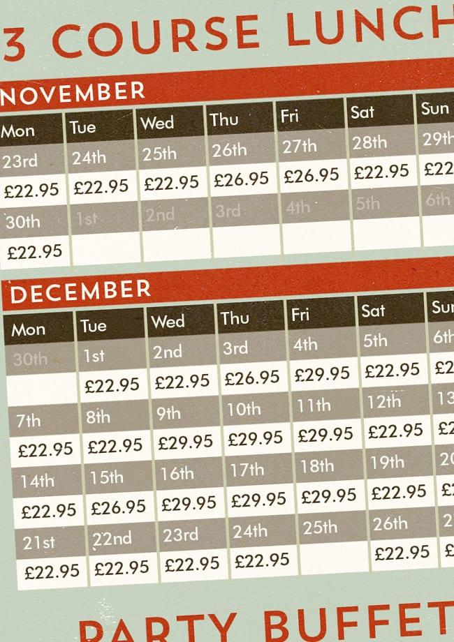christmas party calendar