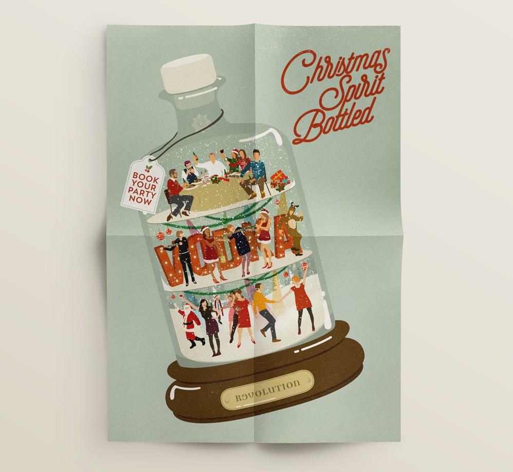 christmas poster fold