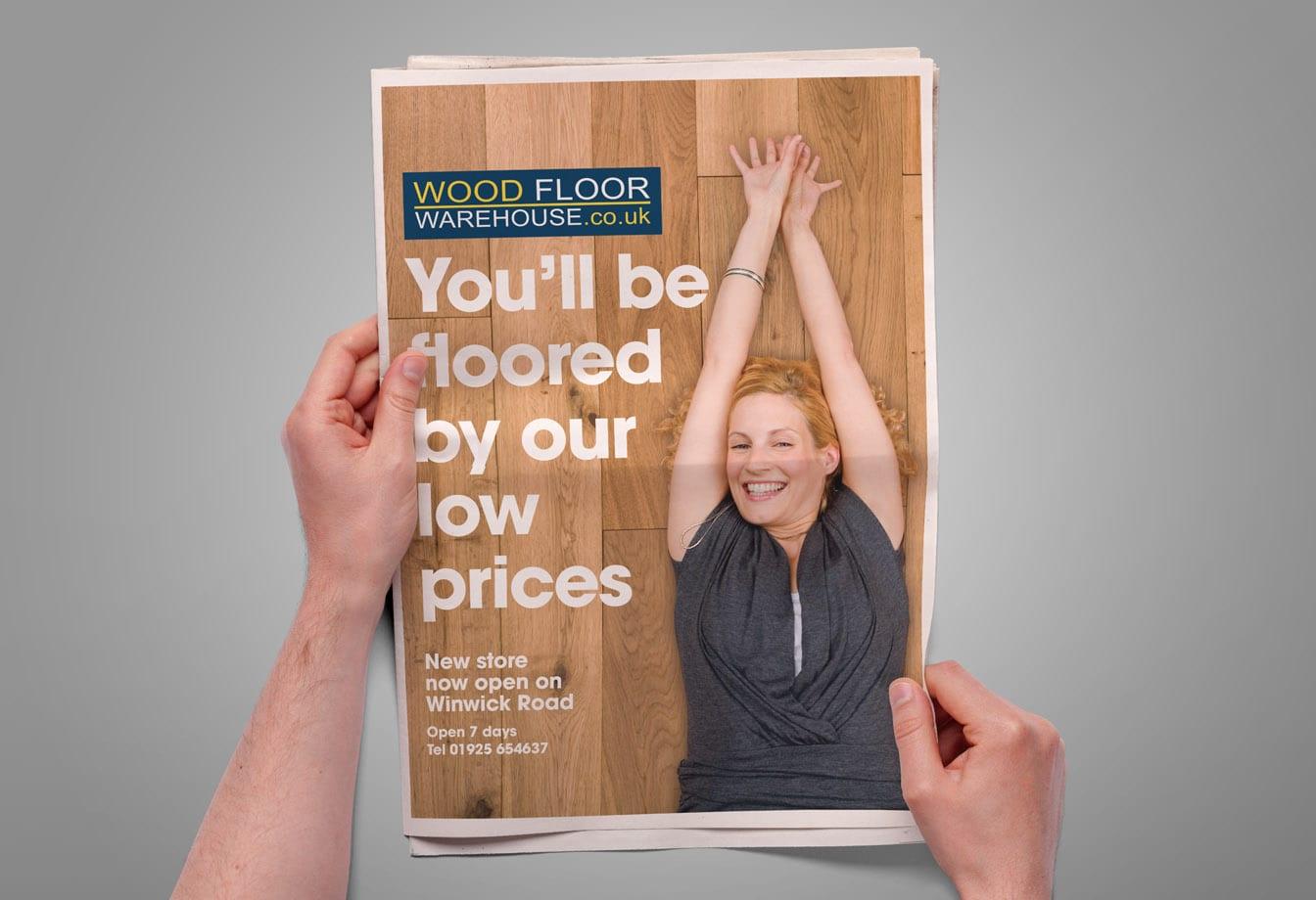 copywriting woodfloor advert design