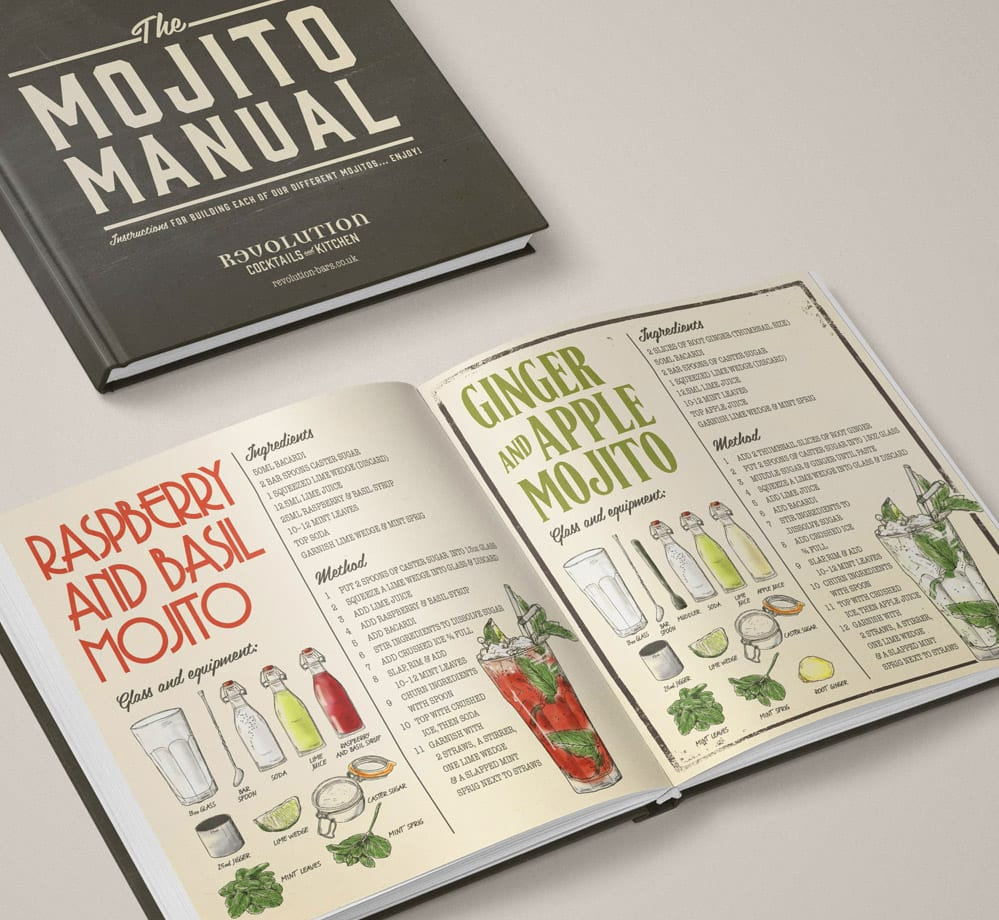 illustration mojito book design