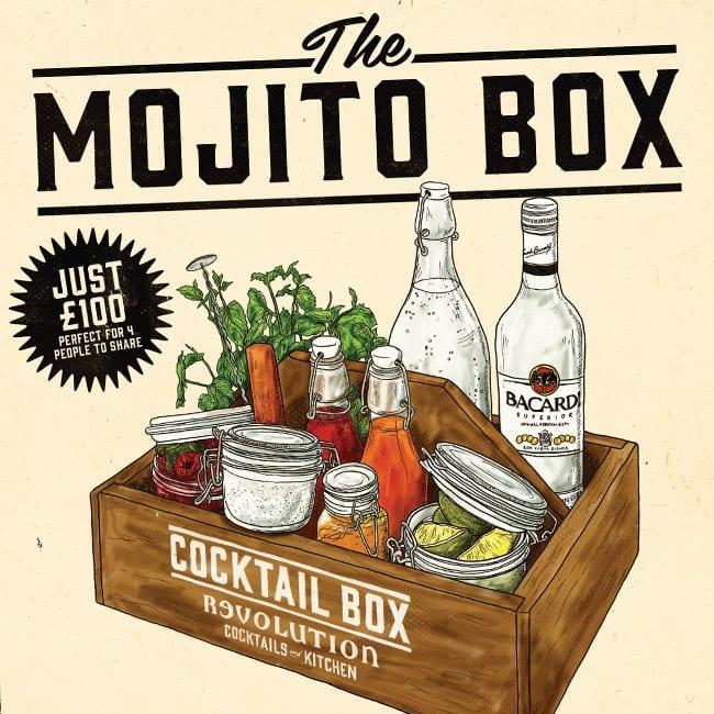 illustration mojito box design