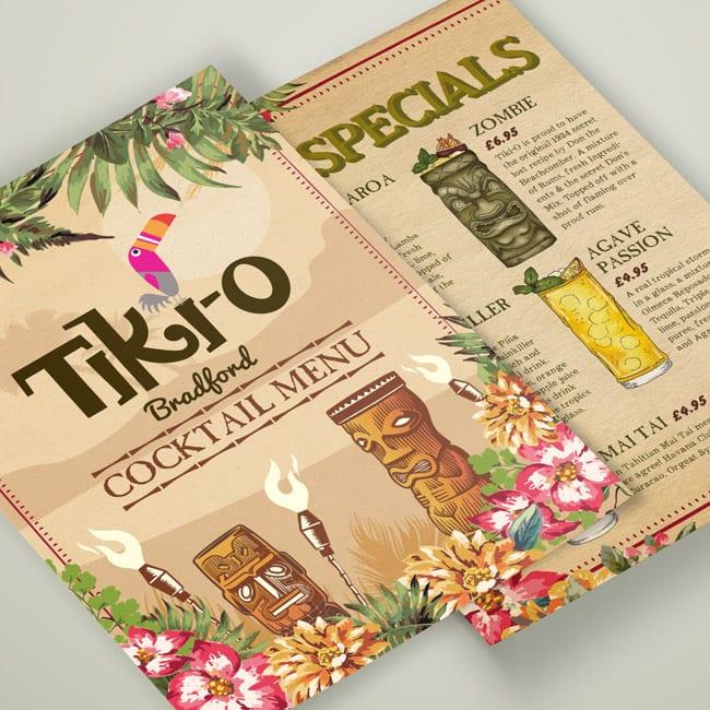 illustration tikio cocktail menu design