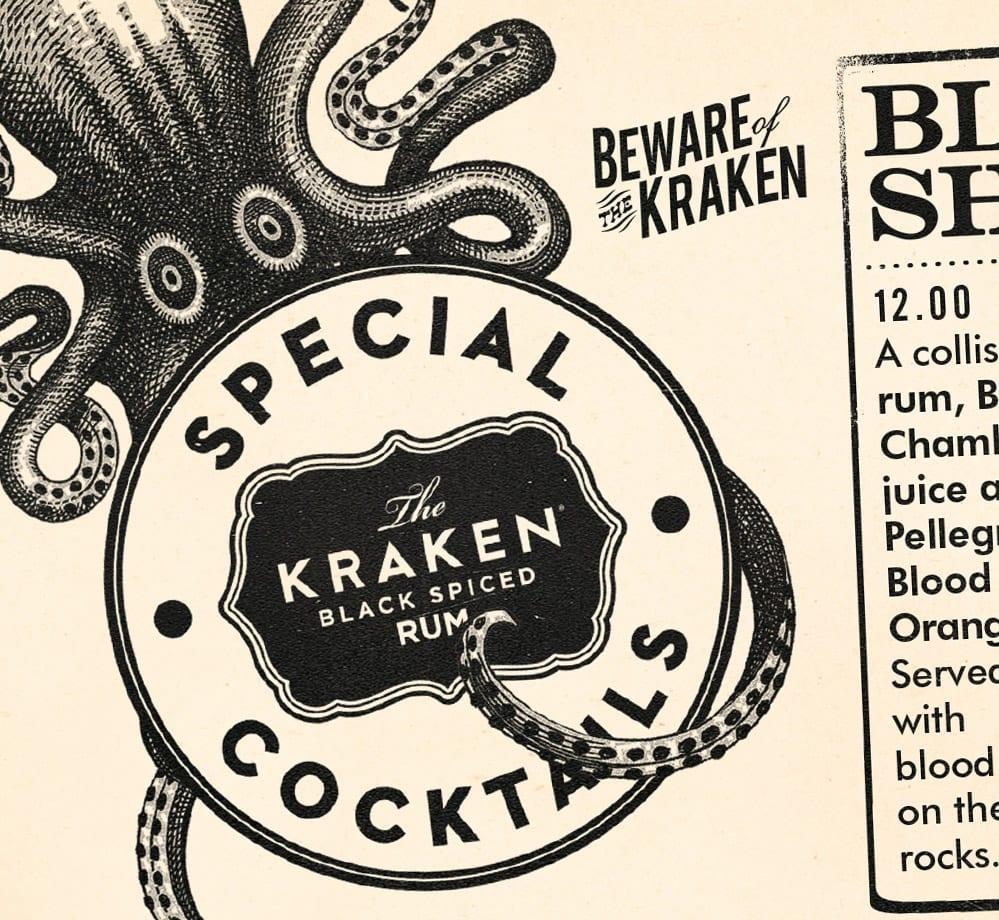 kraken halloween special cocktails