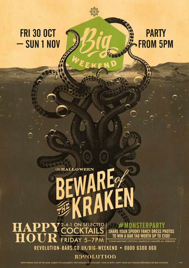kraken halloween weekend
