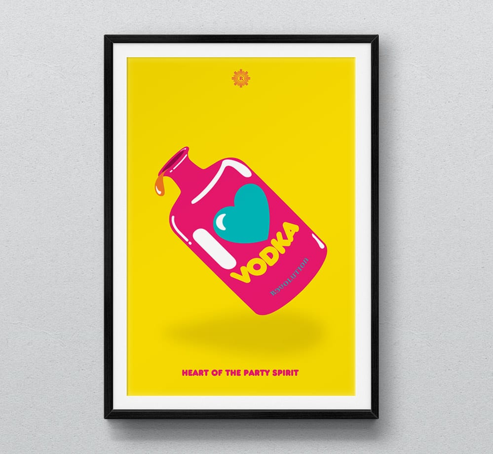 love vodka framed poster