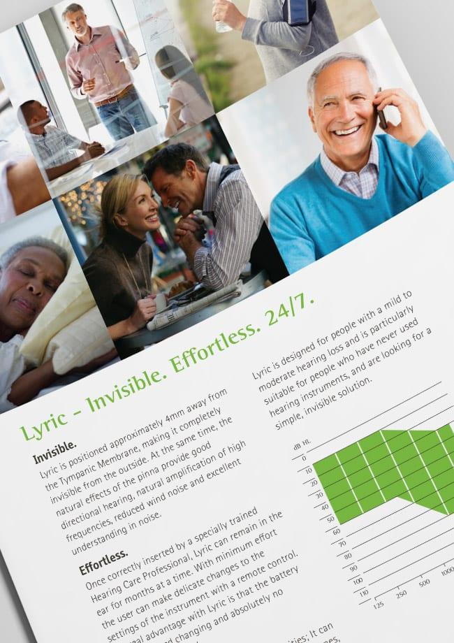 phonak brochure design detail