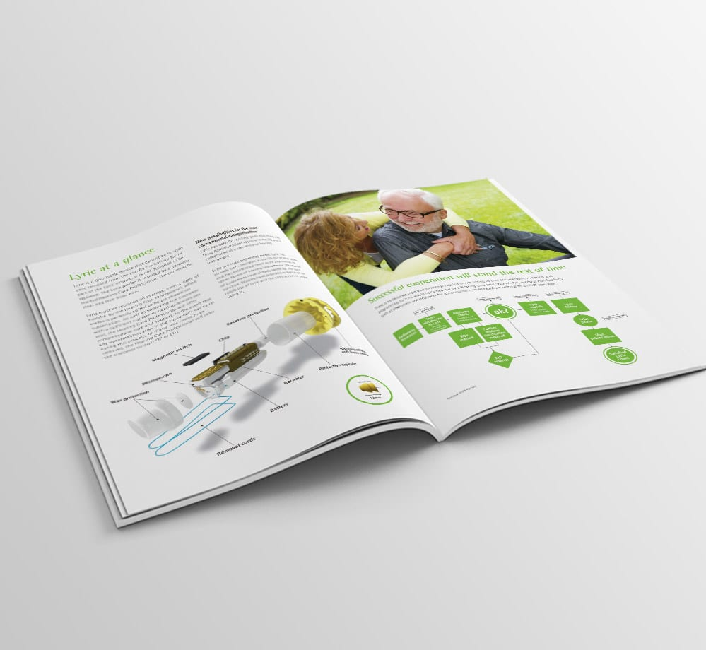 phonak brochure design detail