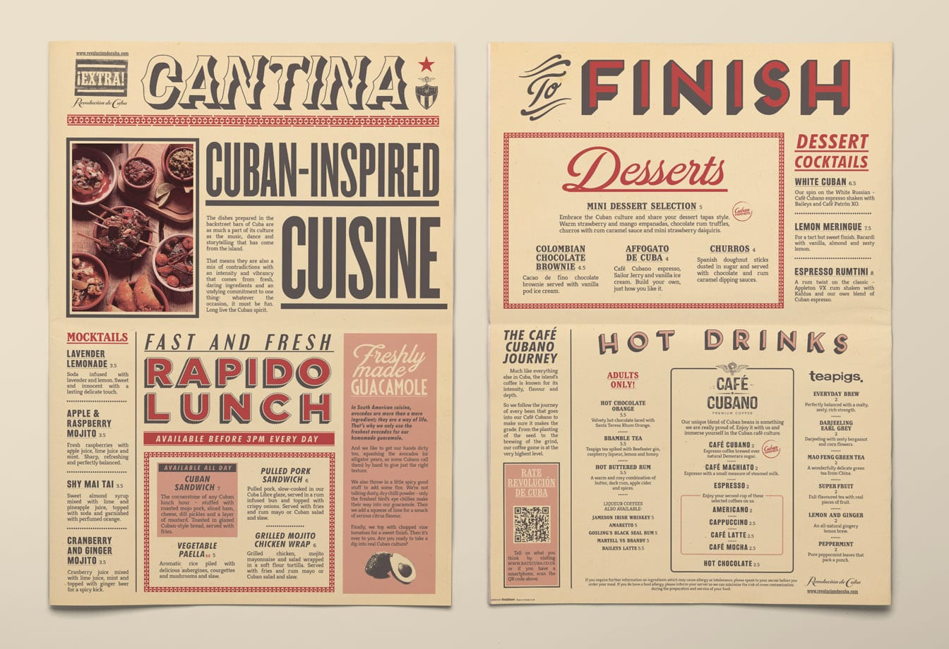 rev de cuba food menu covers