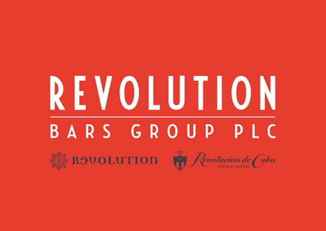 revolution bars group logo brand design