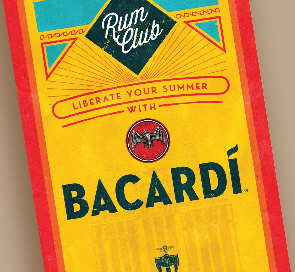 rum club bacardi flyer design