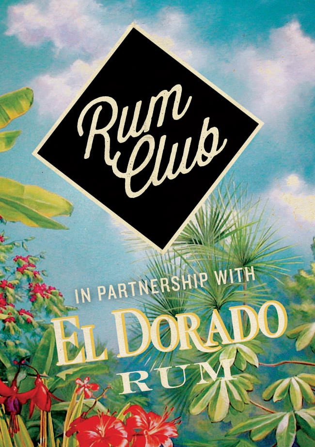 rum club graphic design flyer detail