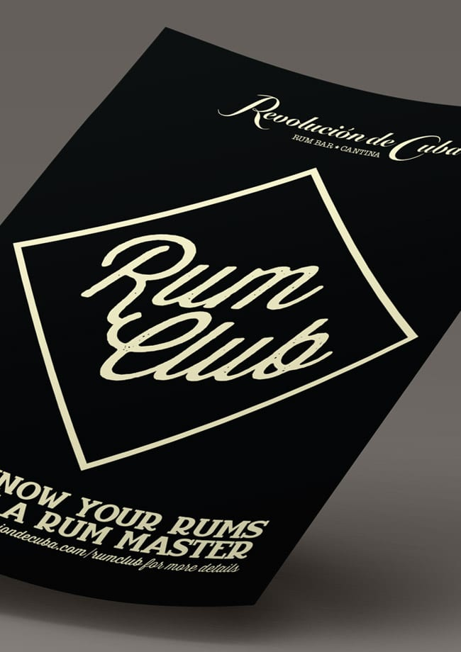 rum club logo poster close up