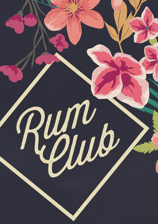 rum club logo poster detail