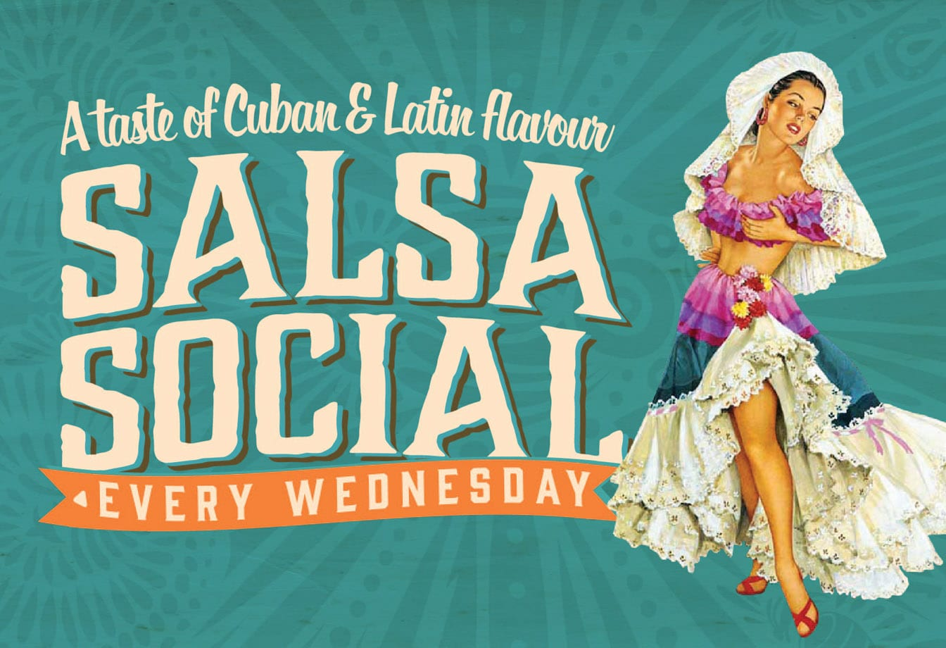 salsa social flyer detail