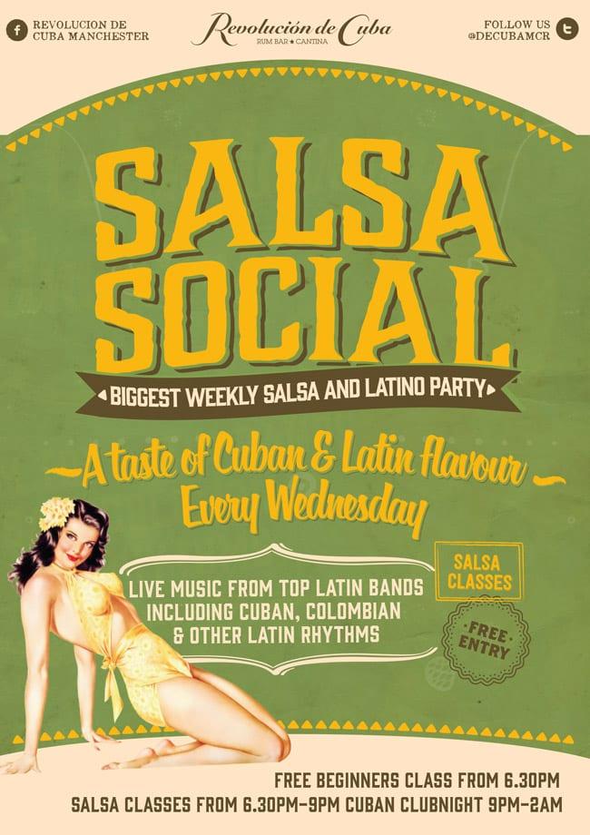 salsa social flyer girl