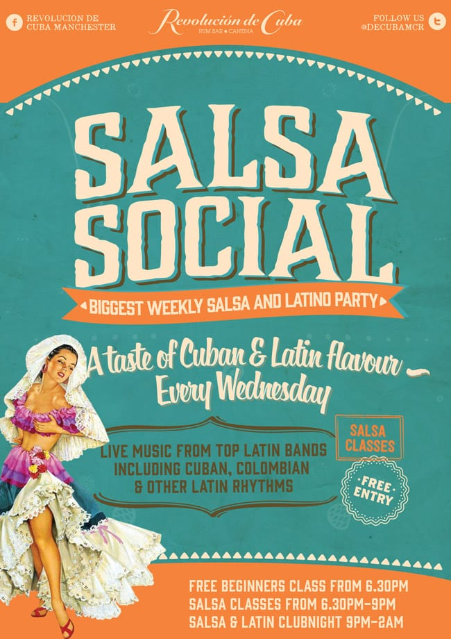 salsa social poster