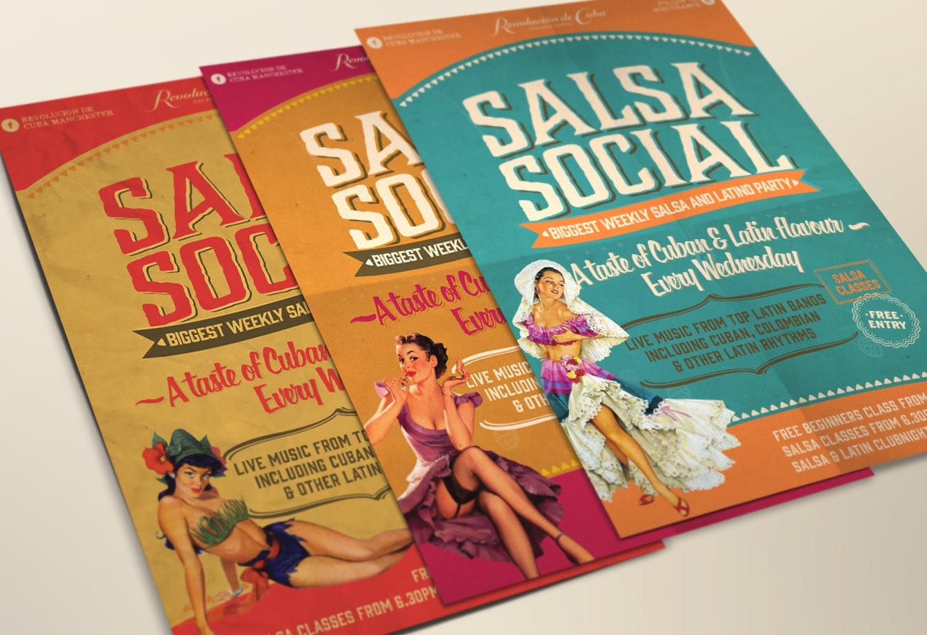 salsa social posters set