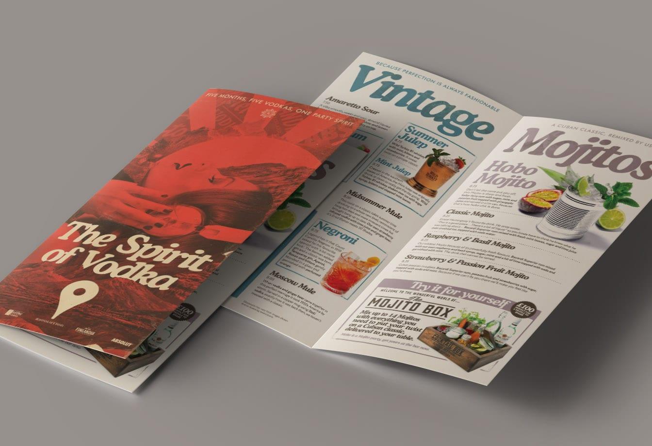 spirit of vodka menu covers