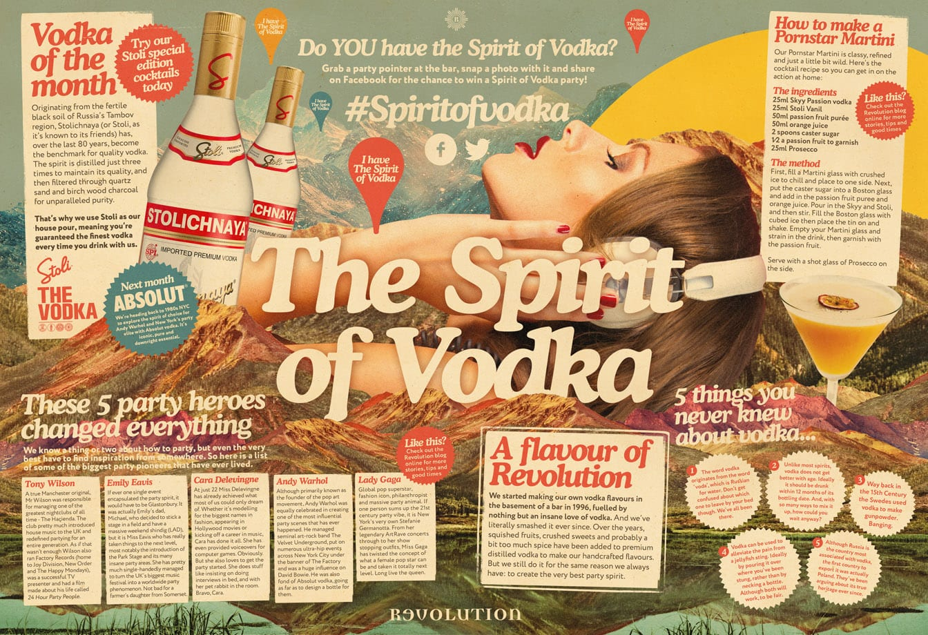 spirit of vodka placemat