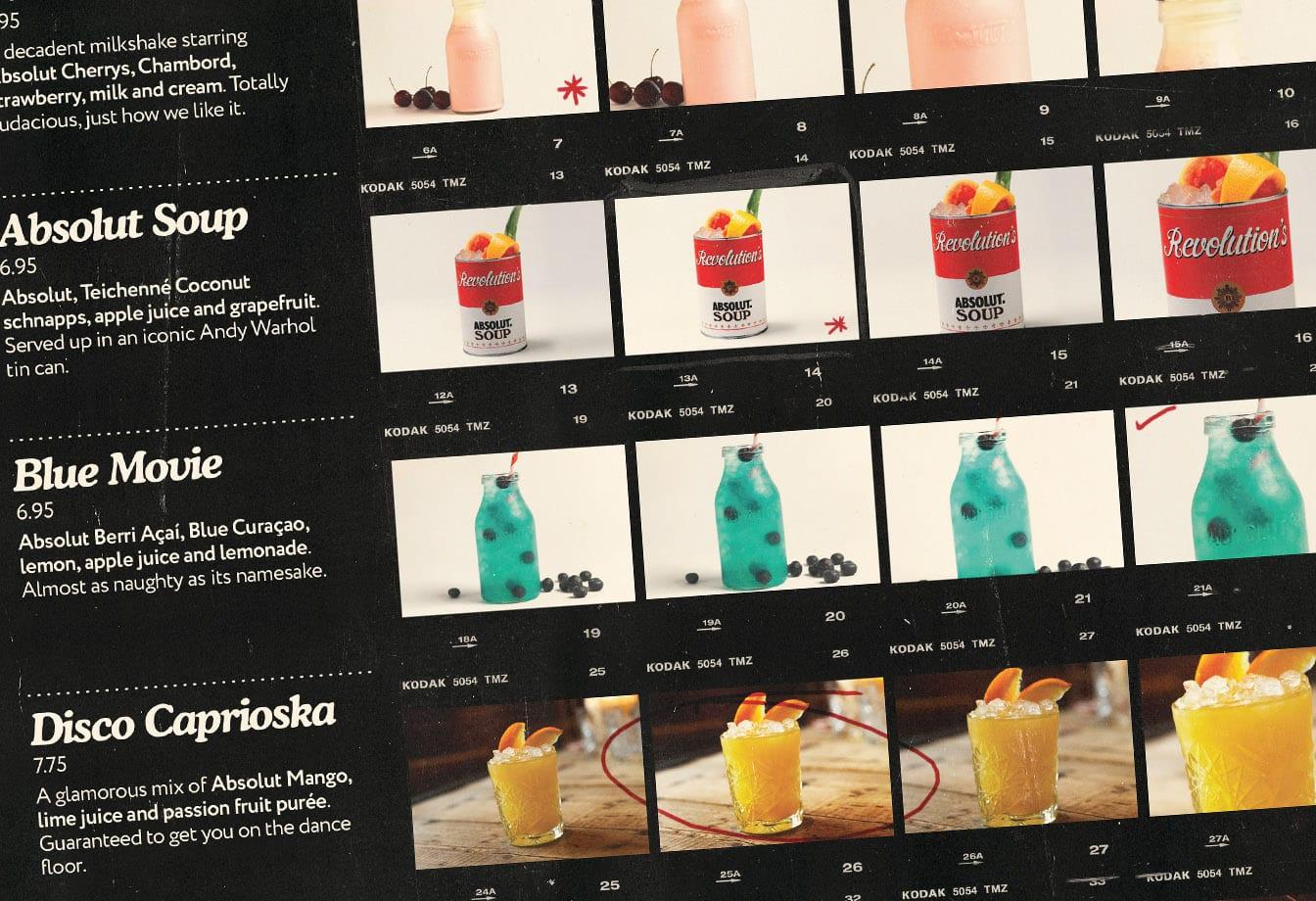 spirit of vodka specials absolut menu