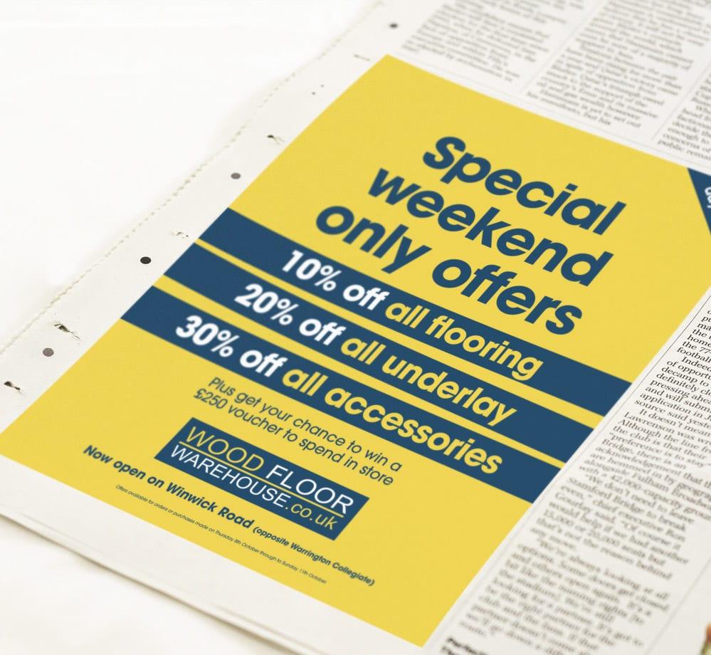 woodfloor press newspaper ad design