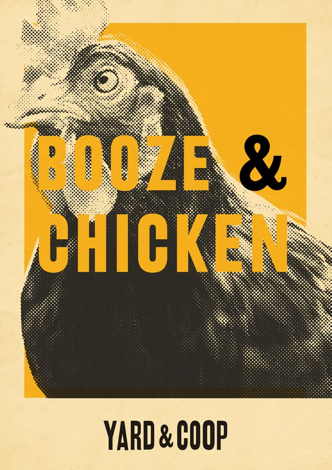 yard and coop booze and chicken