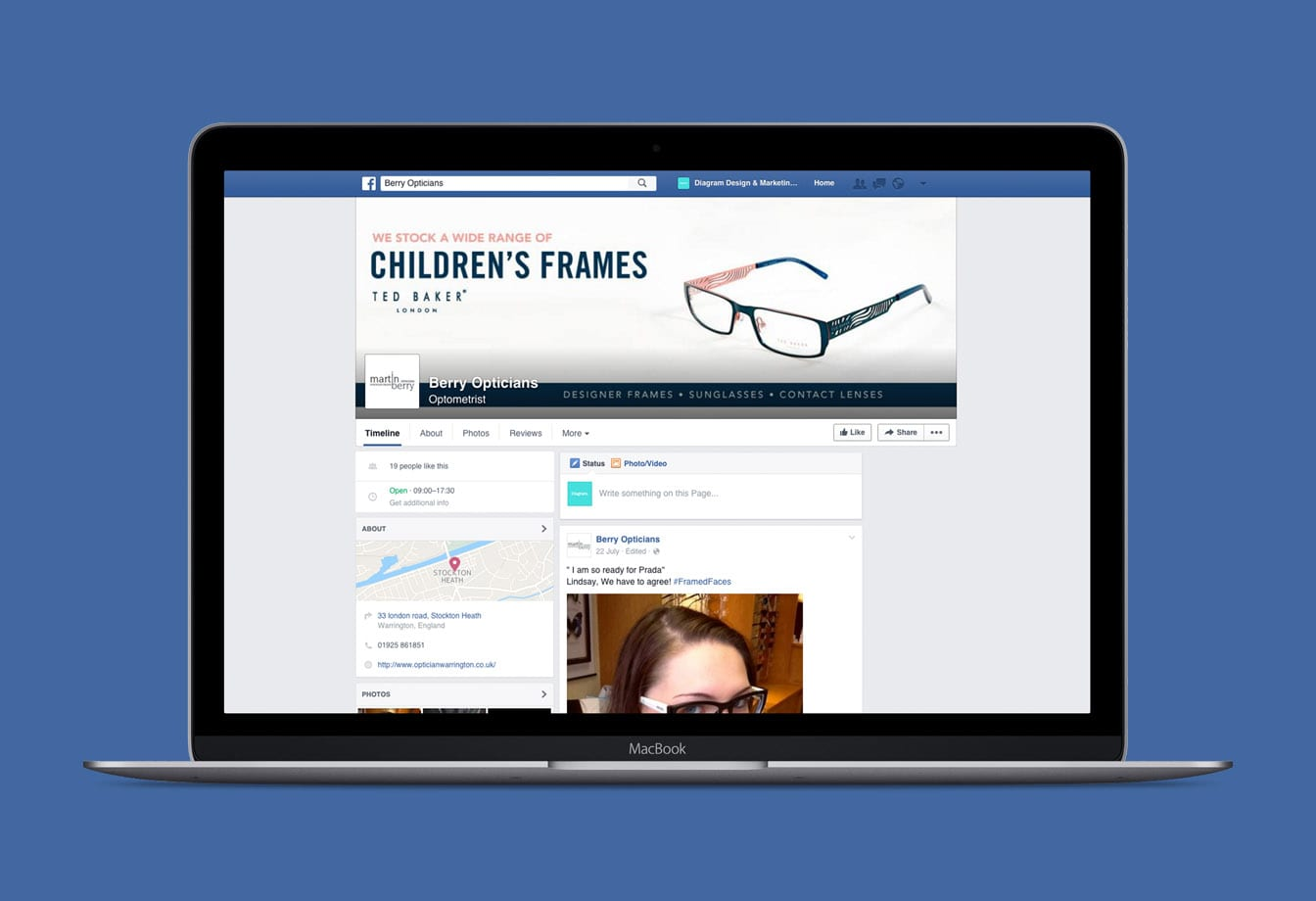 Berry Opticians Facebook Page