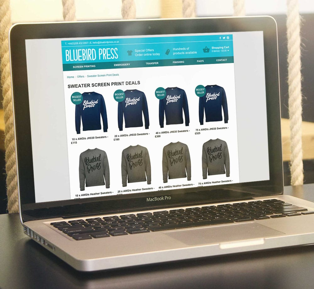 Bluebird Press Ecommerce