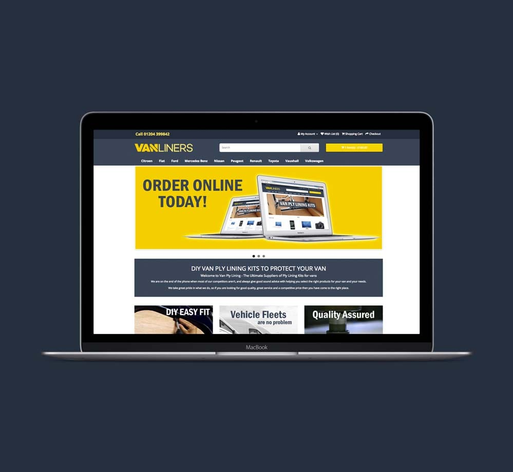 Van Liners Ecommerce Website
