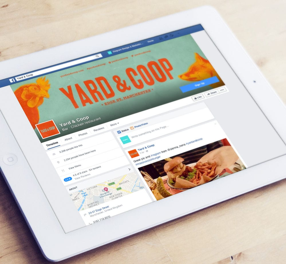Yard and Coop Facebook Page Ipad