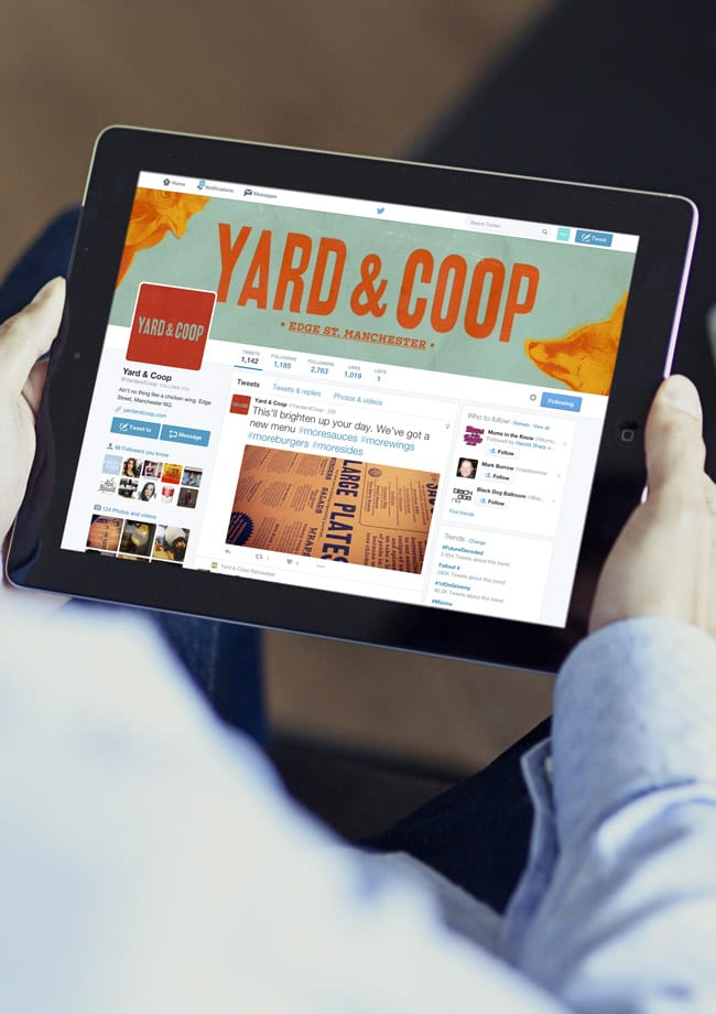 Yard and Coop Twitter Ipad Mock